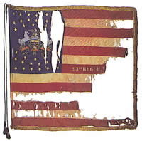 93rd PA flag; identical in pattern/maker to that of 96th PA, now largely destroyed